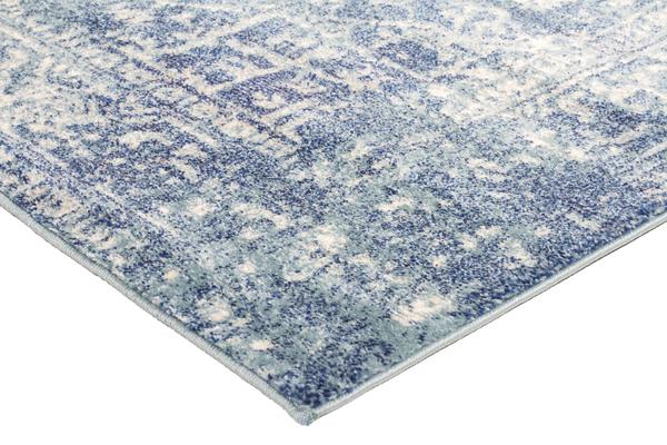 Muse Blue Transitional Rug 300x80cm