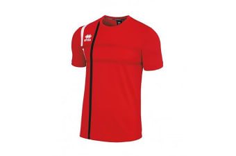 Errea Mens Mateus Short Sleeve Football T-Shirt (Red/Black)
