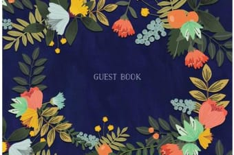 Guest Book - Modern Floral Edition