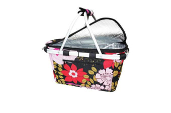 Shop & Go Insulated Carry Basket with Lid Floral Blooms