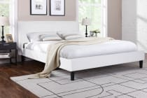 Ovela PVC Leather Bed Frame - Alto Collection (White)