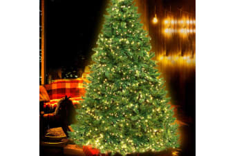 2.1M 7FT Christmas Tree 1134 LED Pre Lights Xmas Decorations Warm White