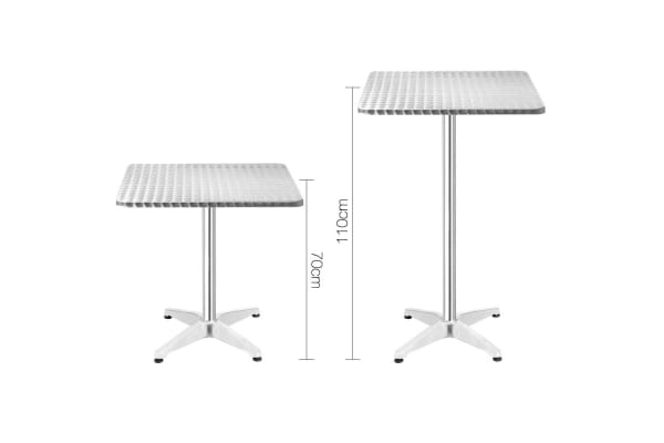 Stainless Steel Bar Square Table