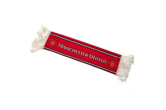 Manchester United FC Mini Car Scarf (Red)