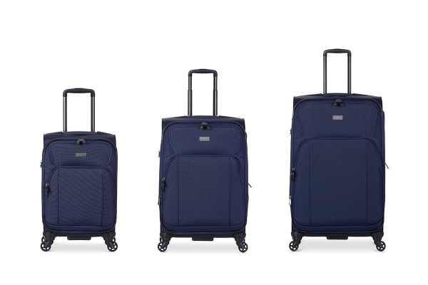 Antler Airstream 2 Roller Case 3 Piece Luggage Set - Navy