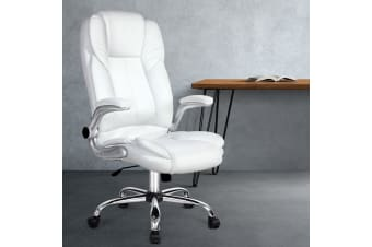 Artiss Gaming Office Chair Computer Chairs Armchairs Leather Seating White