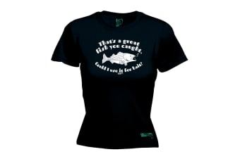 Drowning Worms Fishing Tee - Thats A Great Fish You Caught - (Small Black Womens T Shirt)