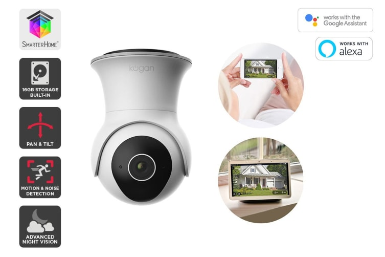 Kogan SmarterHome™ Outdoor IP65 Full HD Pan & Tilt Smart Camera