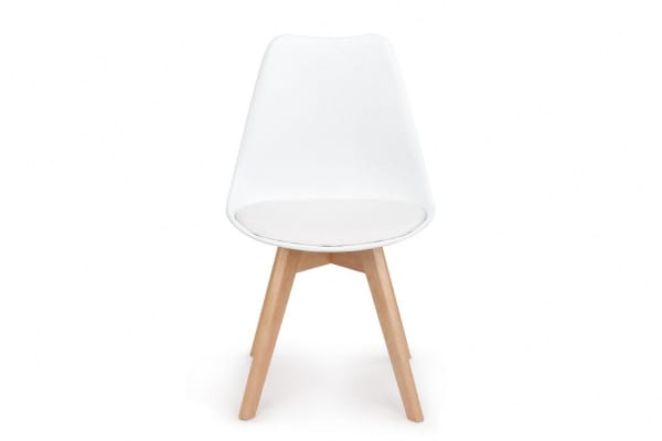 Shangri-La Set of 4 Ester Dining Chairs (White)