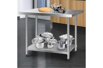 Stainless Steel Kitchen Benches Work Bench Food Prep Table 1219x760
