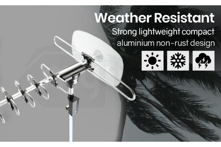 Outdoor TV Antenna Digital Rotating HD Aerial Amplified Signal Booster Remote