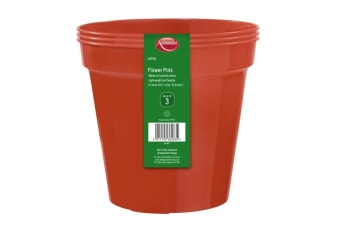 Ambassador Flower Pots (Pack of 3) (Orange)