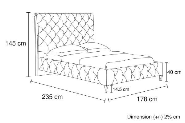 Serena Bed Frame (Queen/Black)