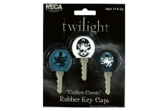 Twilight Rubber Key Cap Cullen Crest 3 Pk