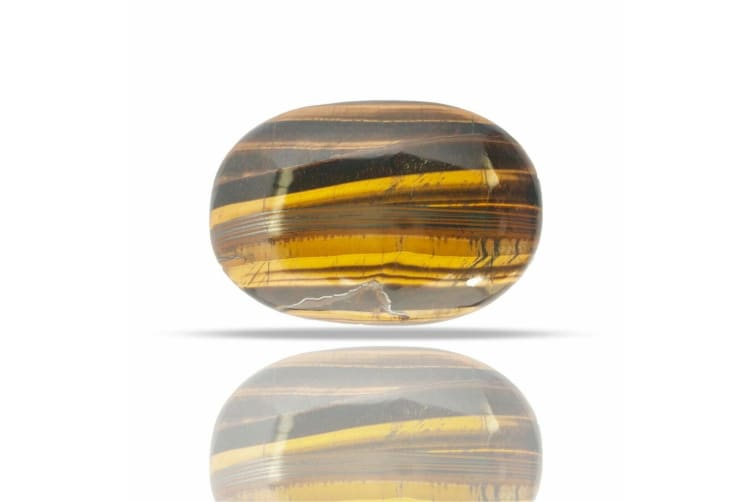 Large Tiger Eyes Chakra Healing Palmstone Polished Palm Stone Reiki Soapstone