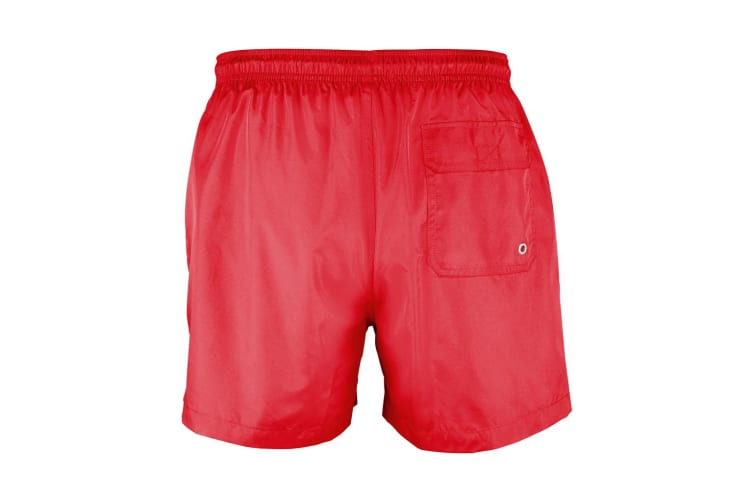 SOLS Mens Sunrise Contrast Swimming Shorts (Red) (M)