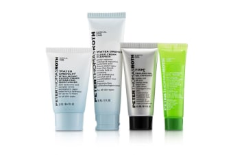 Peter Thomas Roth Jet  Set  Facial ! 4-Piece Kit: 1x Cleanser 30ml + 1x Moisturizer 20ml + 1x Cucumber Gel Mask 14ml + 1x Peeling Gel 15ml 4pcs