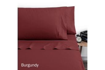 250TC Polyester Cotton Sheet Set Double Burgundy by Artex