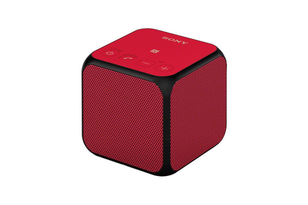 Sony Wireless Bluetooth Speaker Cube - Red (SRSX11R)