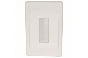 Single gang Brush Cable Entry Wall Plate for pre terminated cables