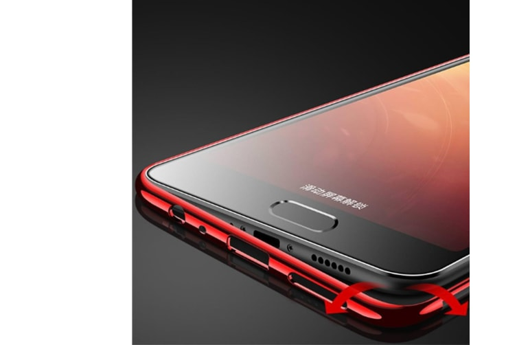 Three Section Of Electroplating Tpu Slim Transparent Phone Shell For Vivo Red Vivo Y67