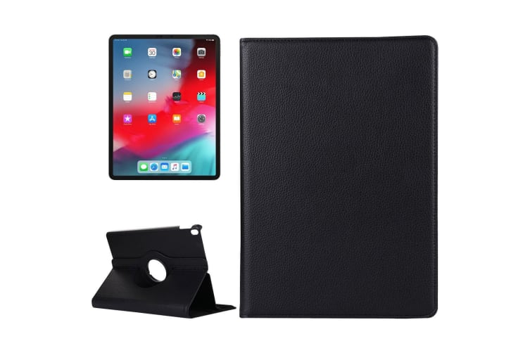 For iPad Pro 11 Inch (2018) Case Lychee Texture PU Leather Folio Cover Black