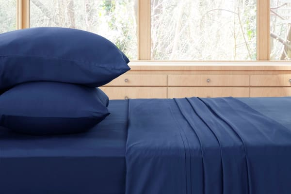 Ovela 400TC 100%  Bamboo Bed Sheet Set (Double, Marine)