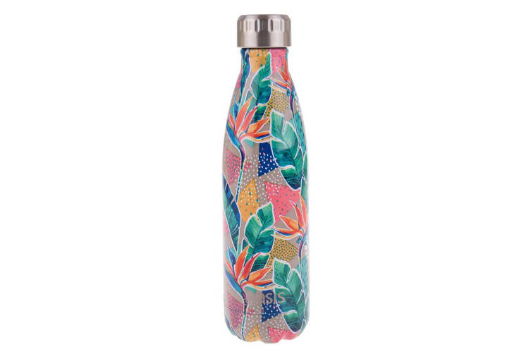 Oasis Stainless Steel Double Wall Insulated Drink Bottle 500ml Botanical