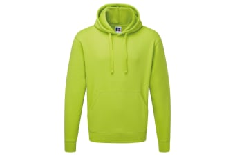 Russell Mens Authentic Hooded Sweatshirt / Hoodie (Lime) (XS)