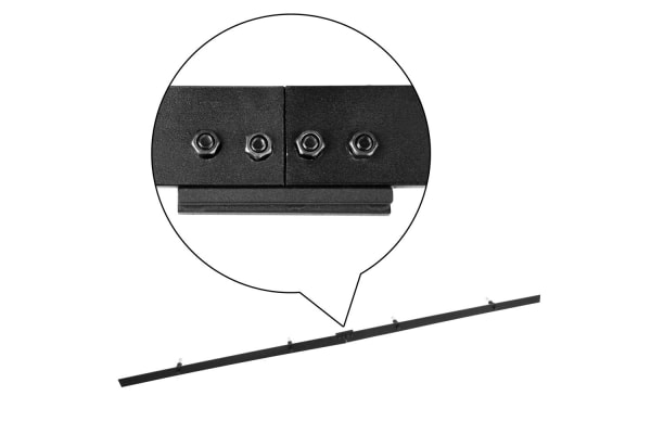 Sliding Barn Door Hardware Track Set Powder Coat Steel (Black) 4M