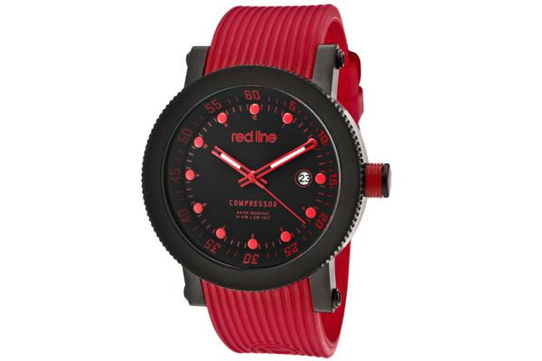 Red Line Men's Compressor Black Dial Red Silicone (RL-18000-01RD-BB-RD-ST)