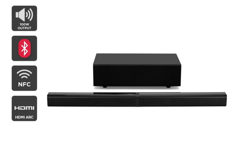 Kogan 2 1CH 100W Detachable Soundbar with Wireless Subwoofer