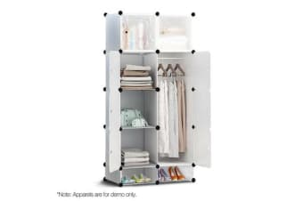 10 Cube DIY Storage Cabinet Wardrobe (White)