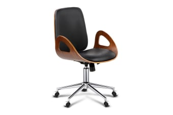 Executive Office Chair with Arm Rests (Walnut)