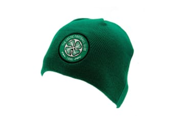 Celtic FC Official Adults Unisex Knitted Dome Hat (Green)