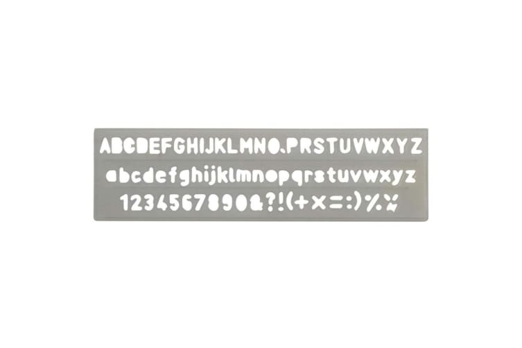 Celco Lettering Stencil 5mm Numbers/Letters/Symbols Scrapbooking Alphabet Craft