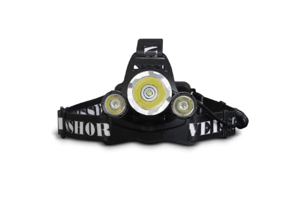 Set of 2 Four Mode LED Flash Torch Headlamp with USB