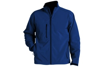 SOLS Mens Relax Soft Shell Jacket (Breathable  Windproof And Water Resistant) (Royal Blue) (XXL)