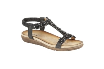 Cipriata Womens/Ladies Giovanna Sandals (Black)