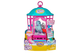 Little Live Pets Light Up Songbird with Cage in Blue - Series 9
