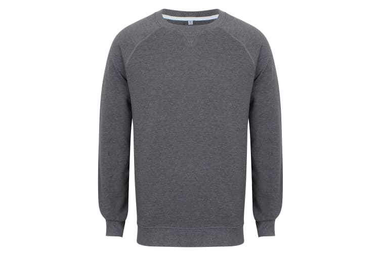 Front Row Adults Unisex French Terry Sweatshirt (Charcoal Marl) (2XL)