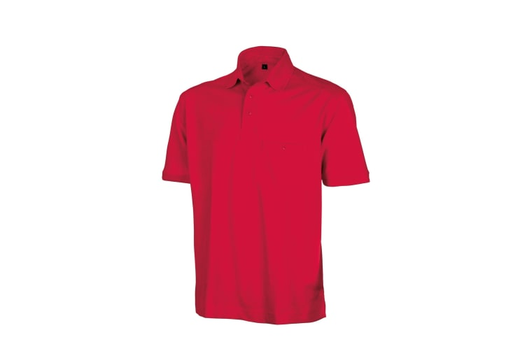 Result Mens Work-Guard Apex Short Sleeve Polo Shirt (Red) (XS)