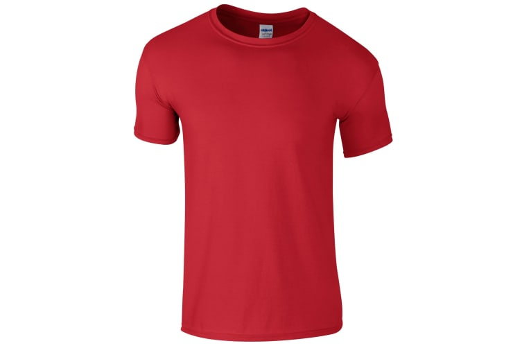 Gildan Childrens Unisex Soft Style T-Shirt (Pack Of 2) (Red) (L)