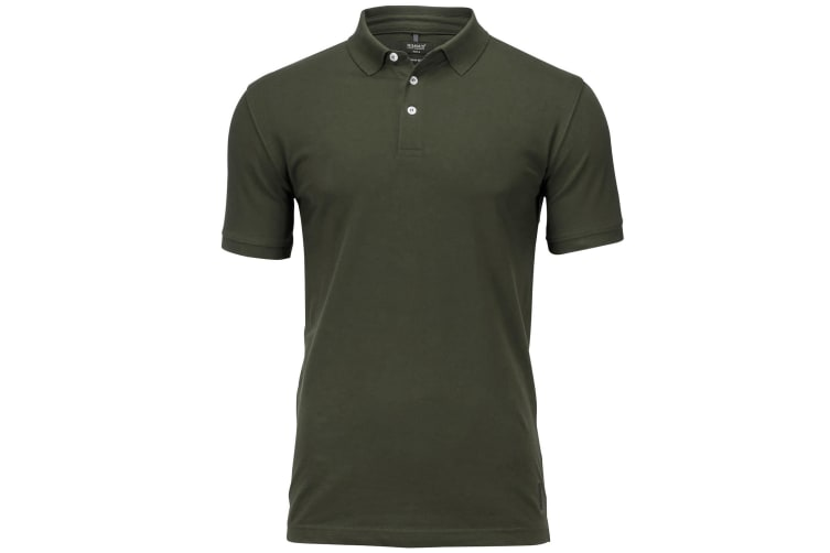 Nimbus Mens Harvard Stretch Deluxe Polo Shirt (Olive) (L)