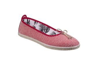 Flossy Womens/Ladies Sabroso Ballerina Espadrille (Red)