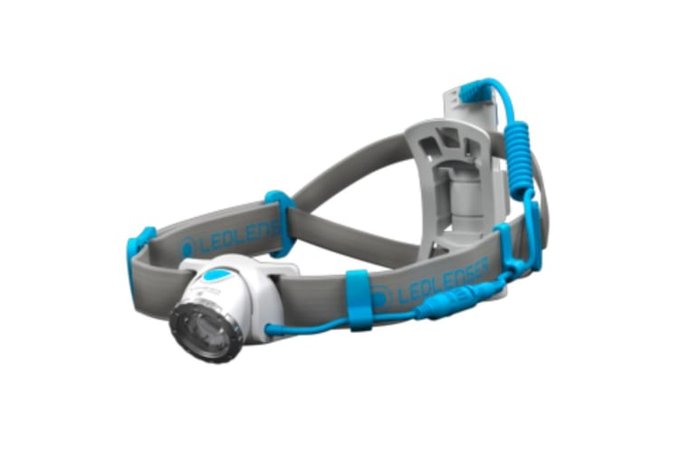 LED LENSER NEO10R Headlamp RECHARGEABLE 600 Lumens Head Torch BLUE