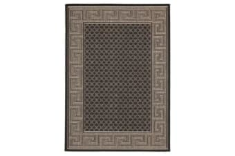 Night Indoor Outdoor Modern Black Rug 160X110cm