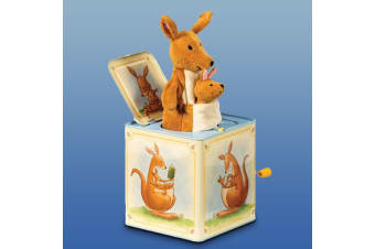 Kangaroo & Joey Jack-in-the-Box Toy | Plays ``Pop! Goes The Weasel""