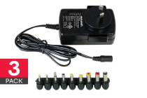 3 Pack Dick Smith 3-12VDC Switchable Power Supply