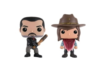 The Walking Dead Negan & Carl Grimes US Pop! Vinyl 2 Pk
